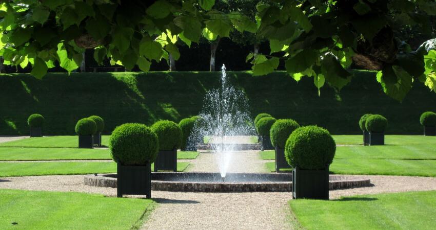 ogród wstylu francuskim