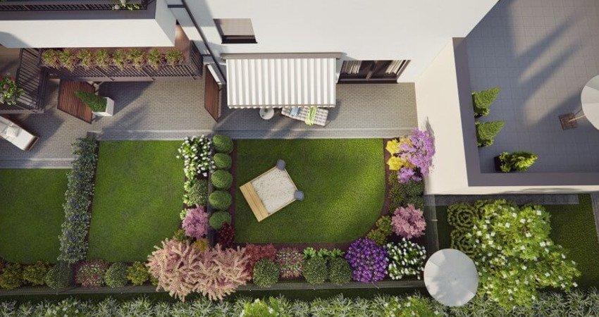 Realizacje - projektowanie ogrodów Osiedle Księżnej Dąbrówki wPoznaniu