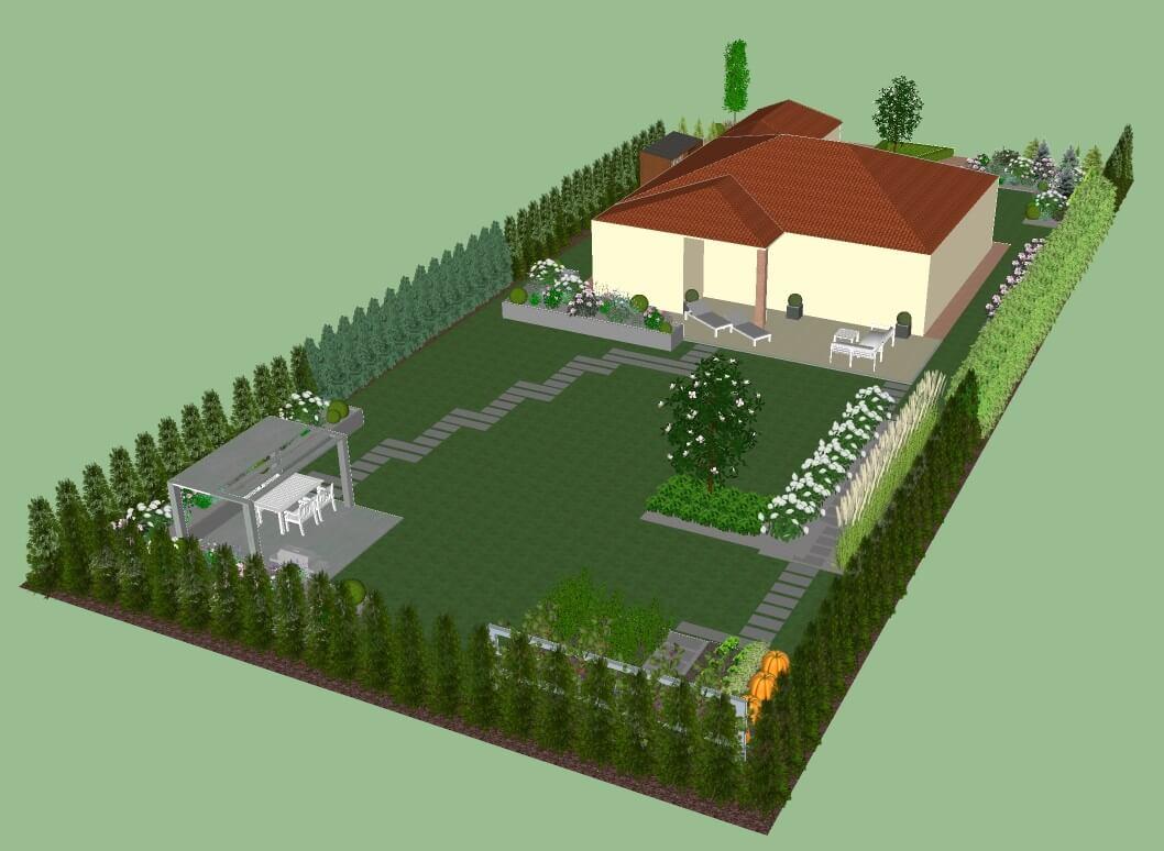 Realizacje - projektowanie terenów zieleni Lusówko
