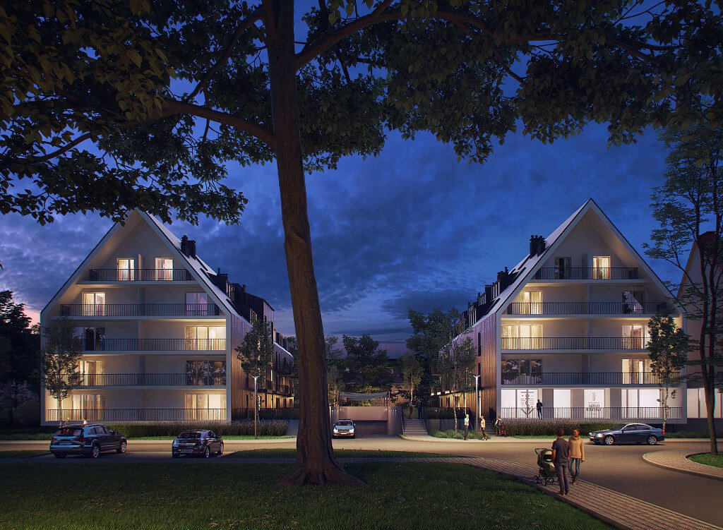 Realizacje - tereny zielone nanowym osiedlu mieszkalnym