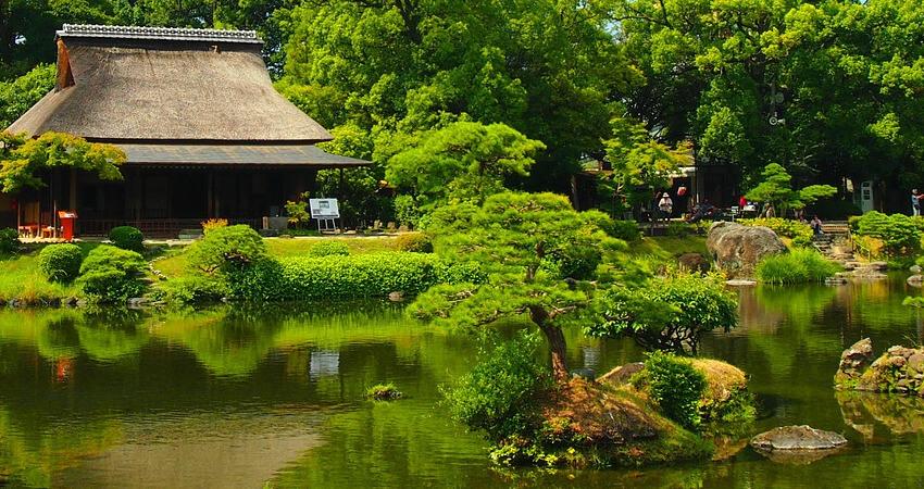 Ogród japoński - ukształtowanie terenu