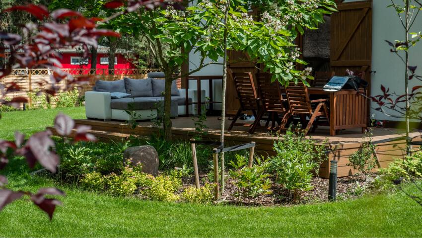Zakładanie iprojektowanie ogrodów - przykładowa realizacja