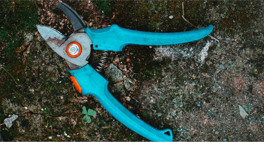 Prace ogrodowe wmarcu - sprzęt
